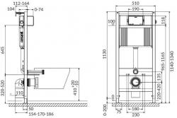CERSANIT nádržka AQUA 02 bez tlačidla + WC JIKA PURE + SEDADLO duraplast (S97-063 PU1), fotografie 4/14