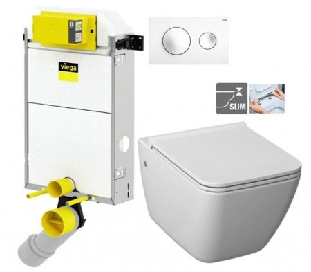 VIEGA Presvista modul PURE pre WC vrátane tlačidla Style 20 bielej + WC JIKA PURE + SEDADLO duraplast (V771928 STYLE20BI PU1)
