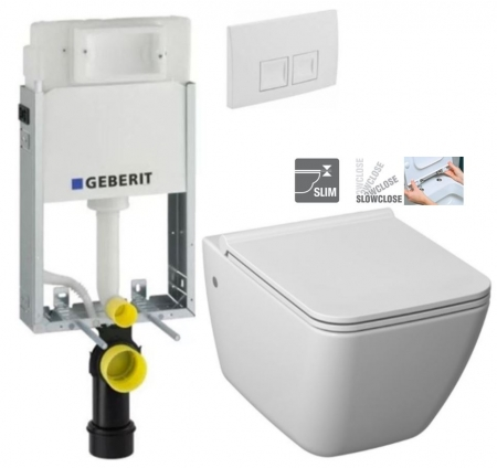 GEBERIT KOMBIFIXBasic vr. bieleho  tlačidla DELTA 50 + WC JIKA PURE + SEDADLO SLOWCLOSE duraplast (110.100.00.1 50BI PU2)