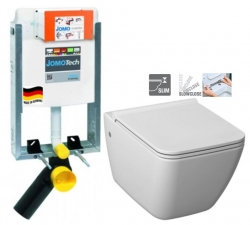 JOMO modul pre zamurovanie bez sedátka + WC JIKA PURE + SEDADLO SLOWCLOSE duraplast (164-14600479-00 PU2)