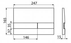 ALCAPLAST Sádromodul - predstenový inštalačný systém s chrómovým tlačidlom M1721 + WC JIKA PURE + SEDADLO SLOWCLOSE duraplast (AM101/1120 M1721 PU2), fotografie 32/18
