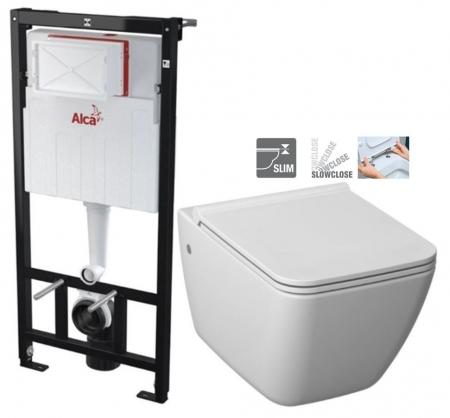 ALCAPLAST Sádromodul - predstenový inštalačný systém bez tlačidla + WC JIKA PURE + SEDADLO SLOWCLOSE duraplast (AM101/1120 X PU2)