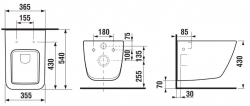 ALCAPLAST  Jádromodul - predstenový inštalačný systém bez tlačidla + WC JIKA PURE + SEDADLO SLOWCLOSE duraplast (AM102/1120 X PU2), fotografie 30/16
