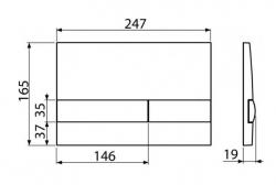 ALCAPLAST  Renovmodul - predstenový inštalačný systém s bielym tlačidlom M1710 + WC JIKA PURE + SEDADLO SLOWCLOSE duraplast (AM115/1000 M1710 PU2), fotografie 34/18