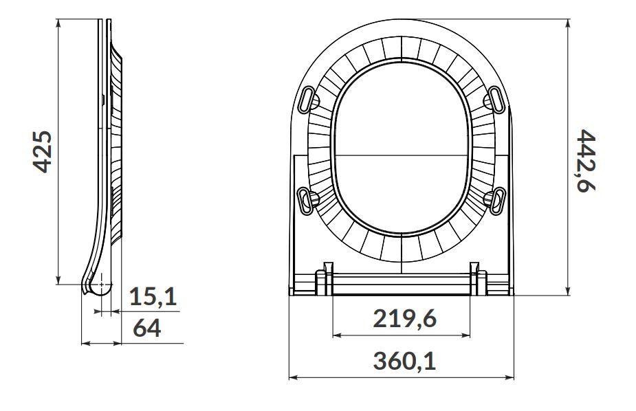 CERSANIT - SET B246 závesná misa ZEN CLEAN ON vrátane dur. sedátka SLIM (S701-428)