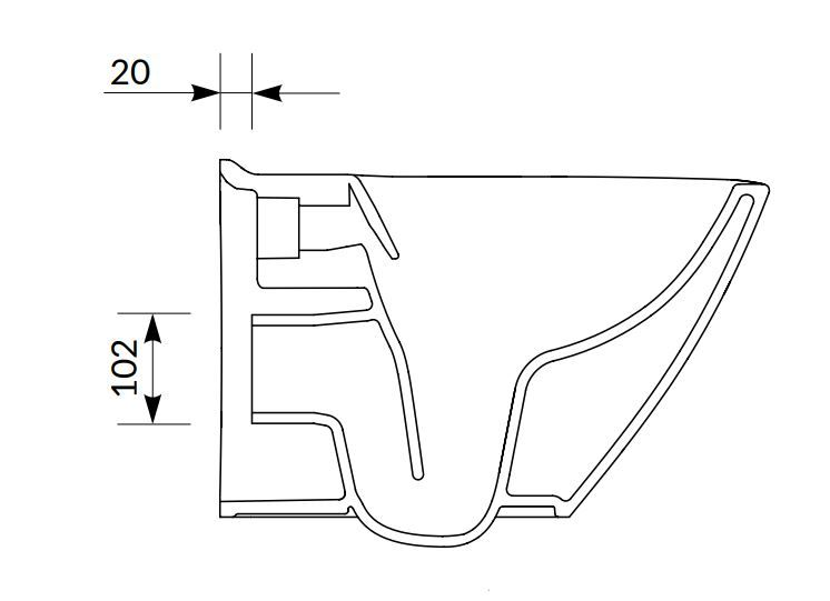 CERSANIT - SET B292 závesná misa MILLE PLUS CLEAN ON vrátane dur. sedátka SLIM (S701-454)