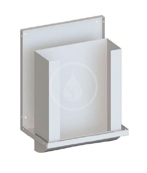 SANELA - Nerezové doplňky Zásobník skladaných uterákov za zrkadlo, nerezový SLZN 84H