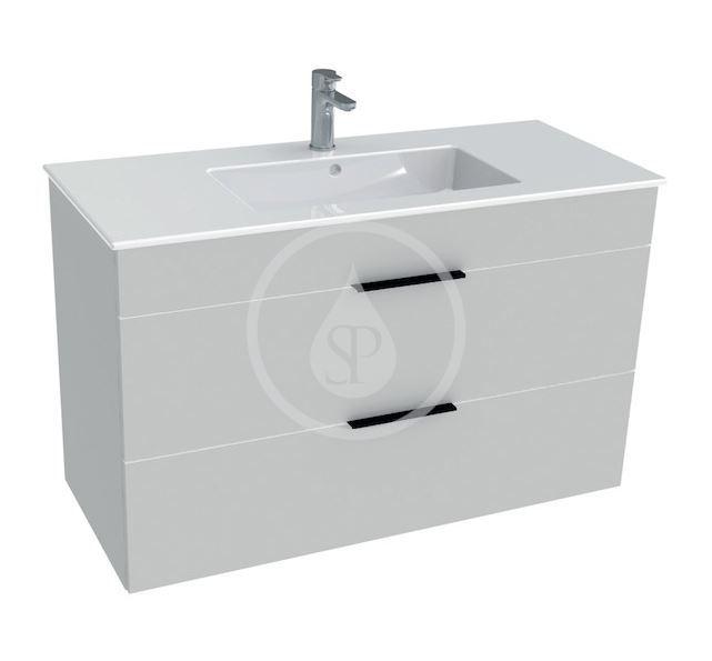 JIKA - Cube Skrinka s umývadlom, 980x422x622 mm, biela H4536521763001