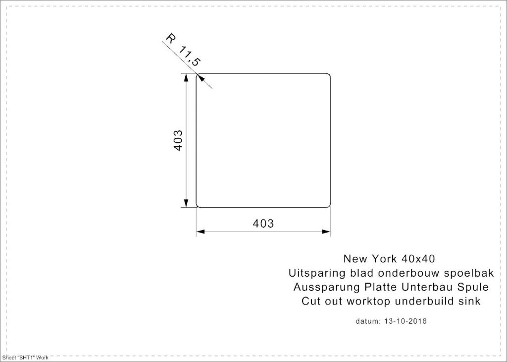 Reginox - Nerezový drez New York 40x40, sitko comfort (R27639)