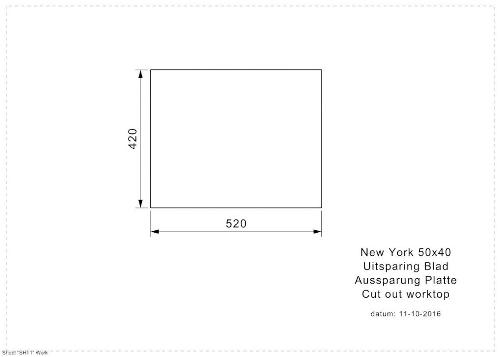 Reginox - Nerezový drez New York 50x40, sitko comfort (R27646)