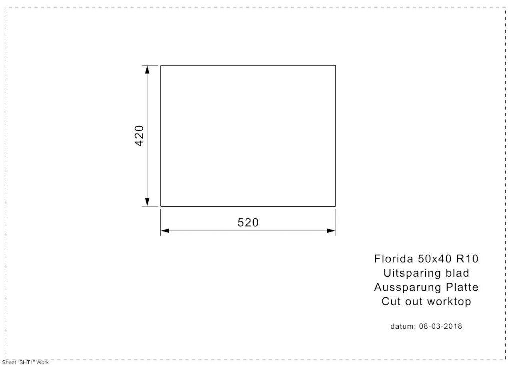 Reginox - Nerezový drez Florida 50x40 (R26281)