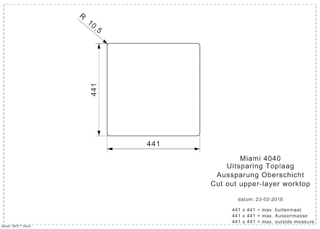 Reginox - Nerezový drez Miami 40x40, zlatá (R30714)