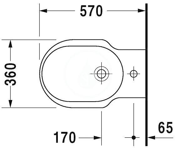 DURAVIT - Bathroom_Foster Stojací bidet s prepadom, 360 mmx570 mm, biely – bidet (0134100000)