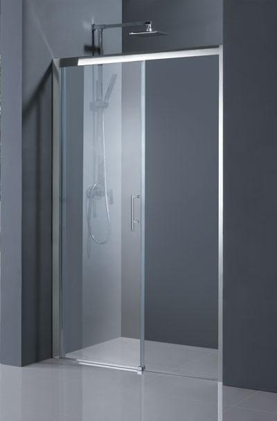 HOPA - Sprchové dveře ESTRELA - Barva rámu zástěny - Hliník chrom, Rozměr A - 120 cm, Směr zavírání - Levé (SX), Výplň - Frost bezpečnostní sklo - 6 mm (BCESTR12CFL)