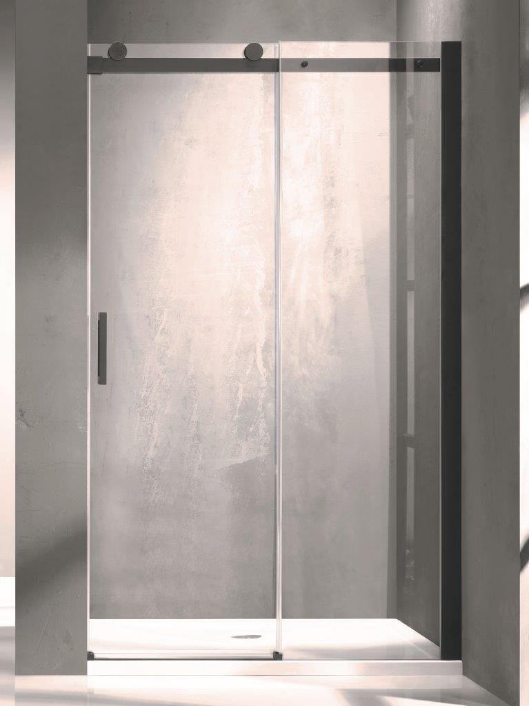 HOPA - Sprchové dveře BELVER BLACK - Barva rámu zástěny - Hliník černý, Rozměr A - 120 cm, Směr zavírání - Univerzální Levé / Pravé, Výplň - Čiré bezpečnostní sklo - 8 mm (BCBELV12BC)