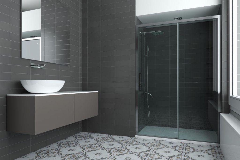 HOPA - Sprchovací kút URBAN ESSENCE N1FS KOMBI - Rozmer A - 100 cm, Rozmer B - 80 cm, Smer zatváranie - Pravé (DX) BEN10DXA1 + BEF12A1