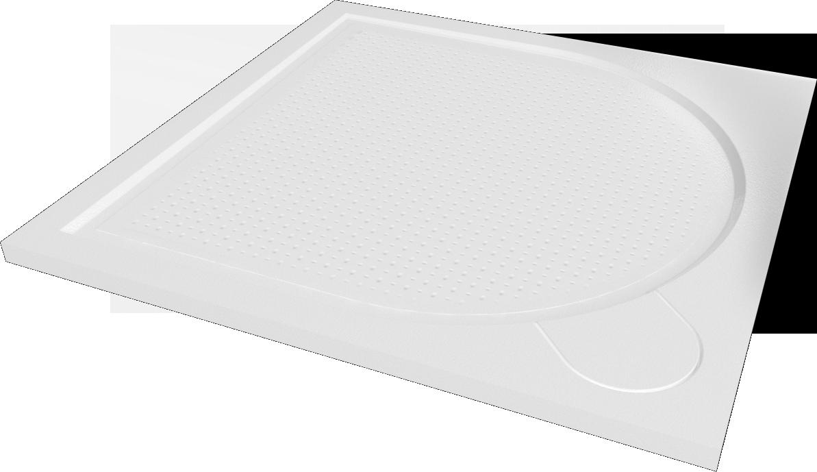 HOPA - Štvorcová mramorová sprchová vanička Laka - Rozmer A - 80 cm, Rozmer B - 80 cm VANKCCTVER80