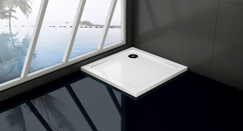 HOPA - Čtvercová mramorová sprchová vanička VENETS - Rozměr A - 90 cm, Rozměr B - 90 cm (VANKCTVE90)
