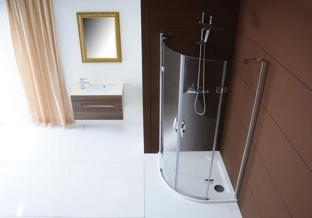 GELCO - LEGRO štvrťkruhová sprchová zástena 900x900mm, dvojkrídlová, číre sklo (GL5590)