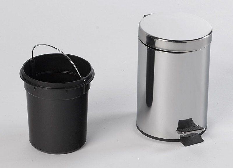 AQUALINE - SIMPLE LINE odpadkový koš guľatý 3l, leštená nerez (27103)