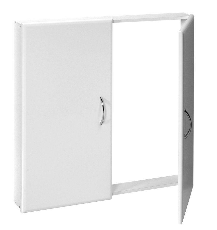 AQUALINE - Dvierka do stupačiek, 72x72cm, biela (57900)