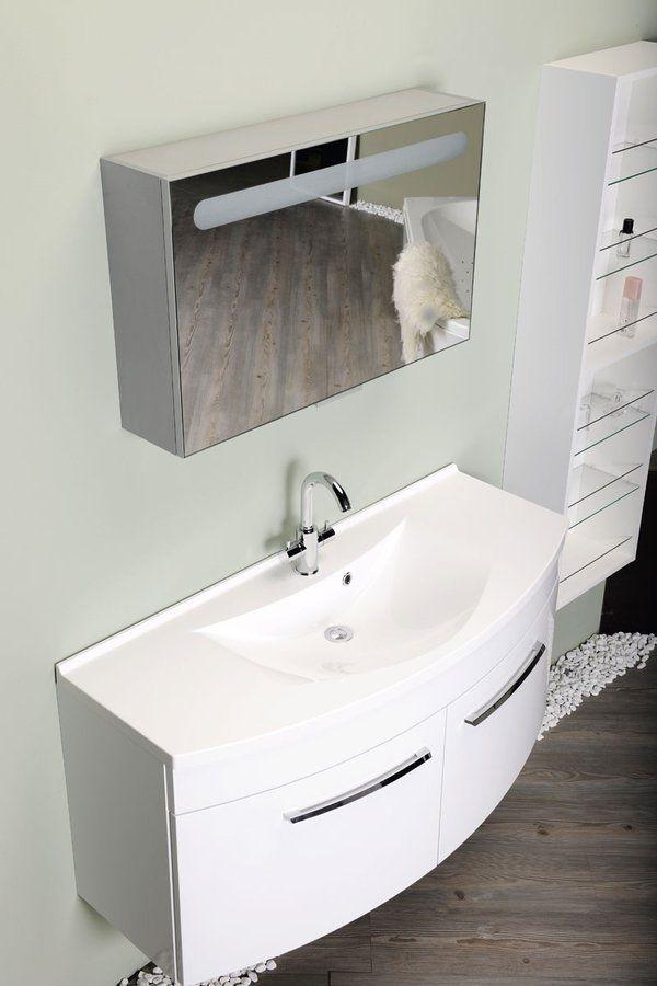 SAPHO - ARAS umývadlo 120x50,5cm, liaty mramor, biela (91211)