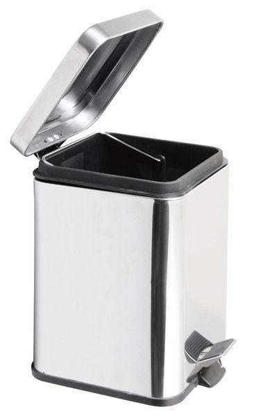 AQUALINE - SIMPLE LINE odpadkový koš hranatý 6l, leštená nerez (GAQ006)