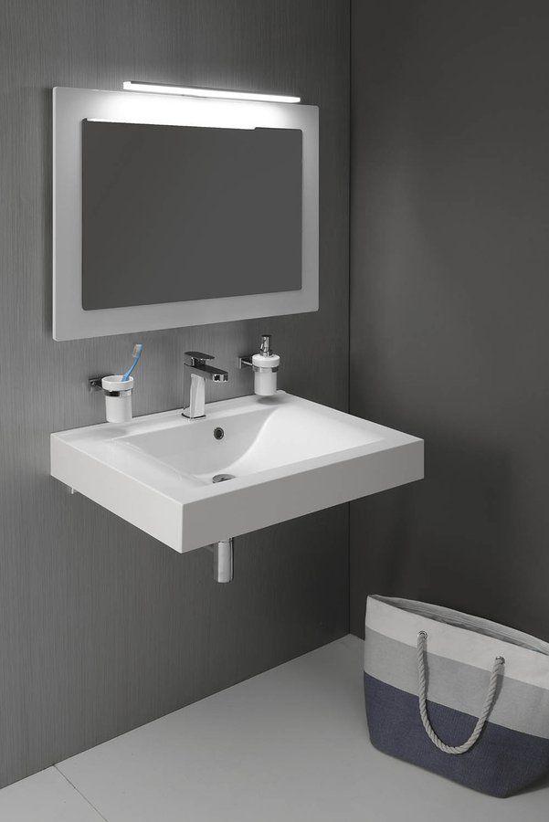 SAPHO - FLAVIA umývadlo 70x50cm, liaty mramor, biela (68071)