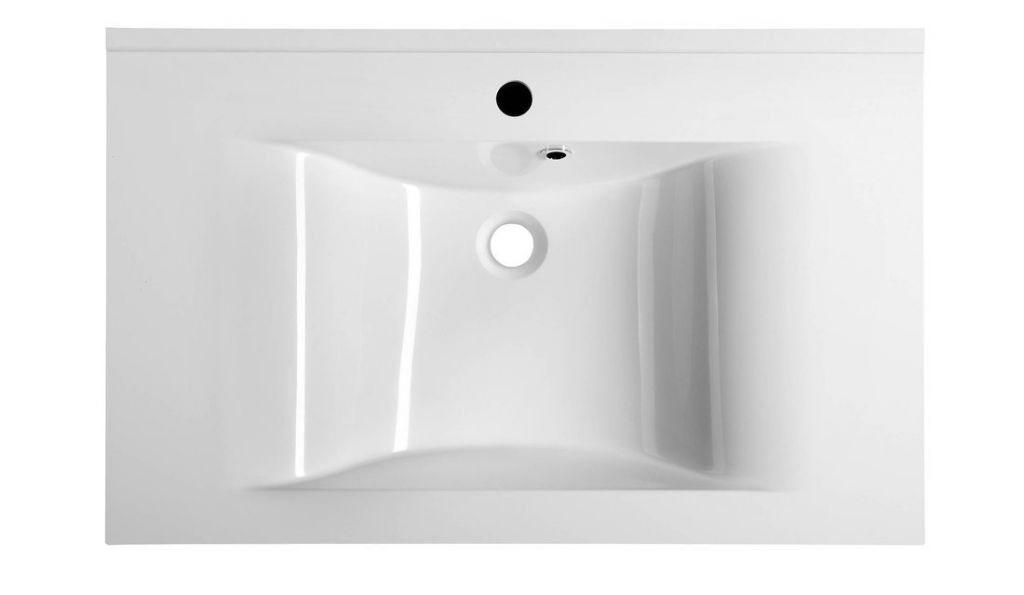 SAPHO - FLAVIA umývadlo 80x50cm, liaty mramor, biela (68081)