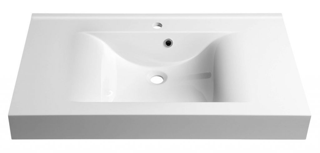 SAPHO - FLAVIA umývadlo 90x50cm, liaty mramor, biela (68091)