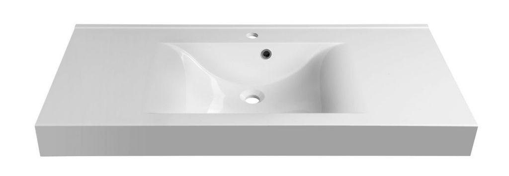 SAPHO - FLAVIA umývadlo 110x50cm, liaty mramor, biela (68101)