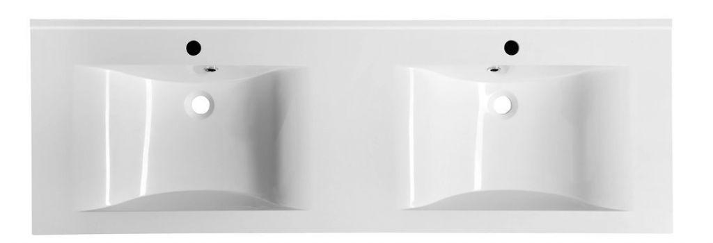 SAPHO - FLAVIA dvojumývadlo 150x50cm, liaty mramor, biela (68154)