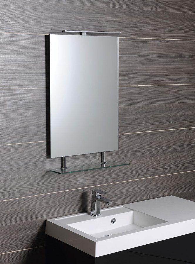 SAPHO - WEGA zrkadlo 700x800mm, s policou (60092-7)