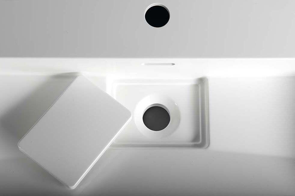 SAPHO - AMUR umývadlo 90x46cm, liaty mramor, biela (55032)