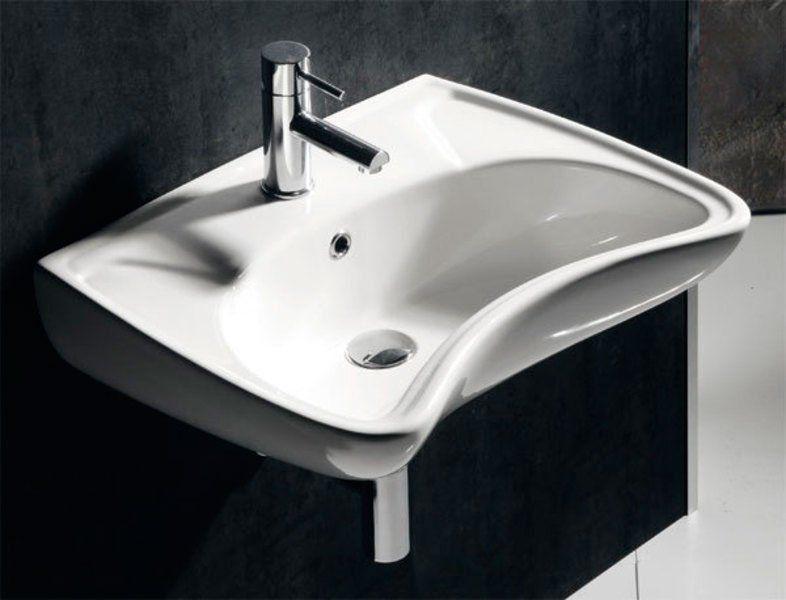 SAPHO - DISABLED keramické umývadlo 59x47cm, pre telesne postihnutých (3001) (10TP60060)