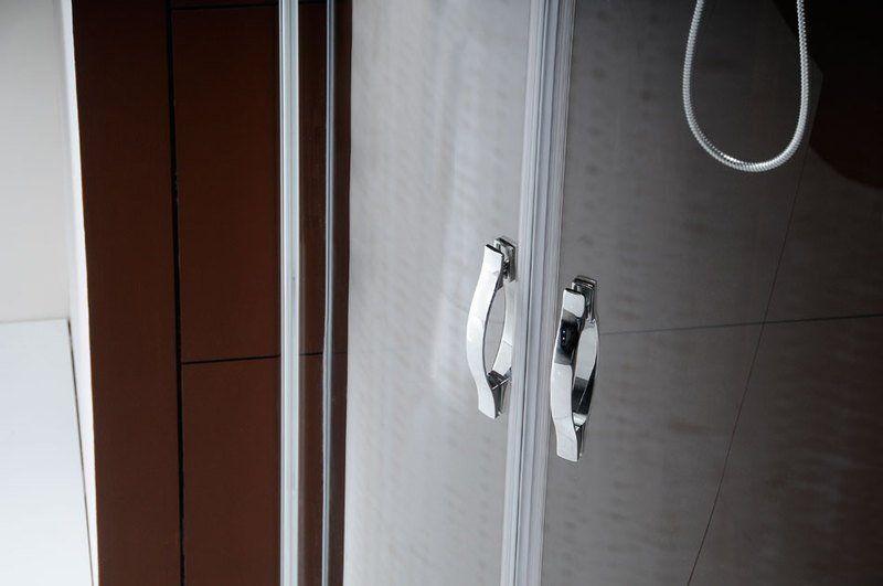 GELCO - LEGRO štvrťkruhová sprchová zástena dvojkridlova 1000x1000mm, číre sklo (GL5510)