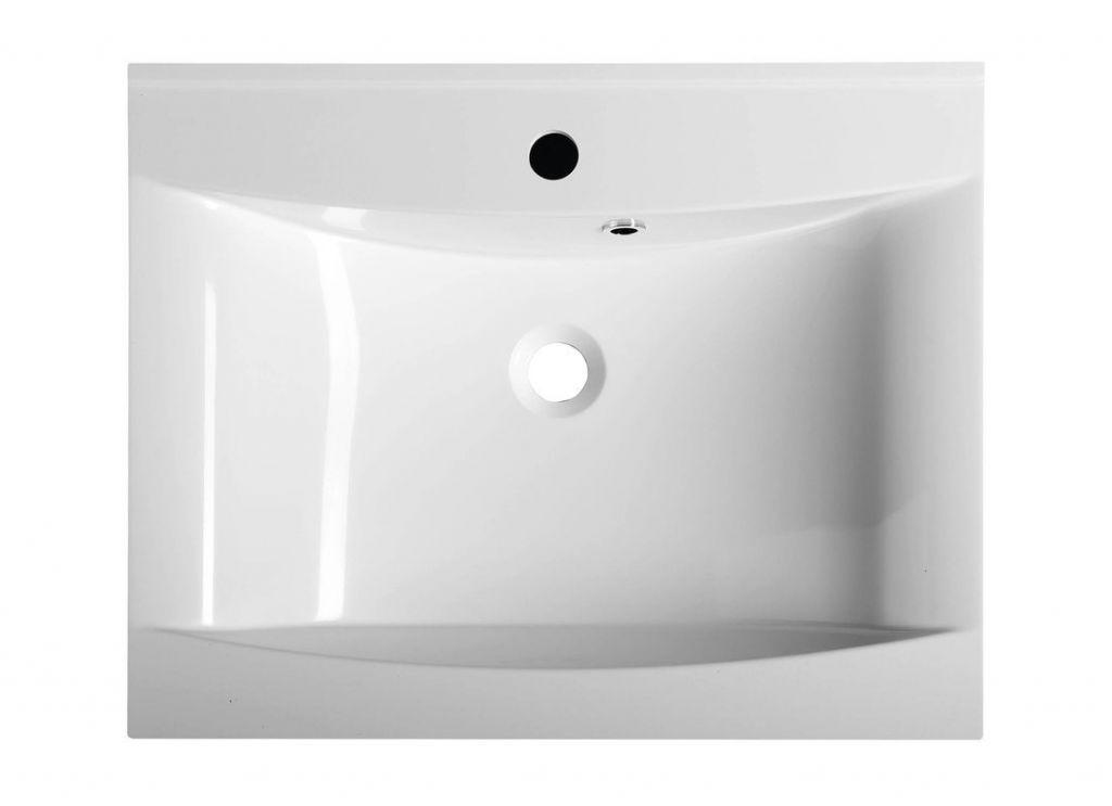 SAPHO - LUCIOLA umývadlo 60x48cm, liaty mramor, biela (50062)