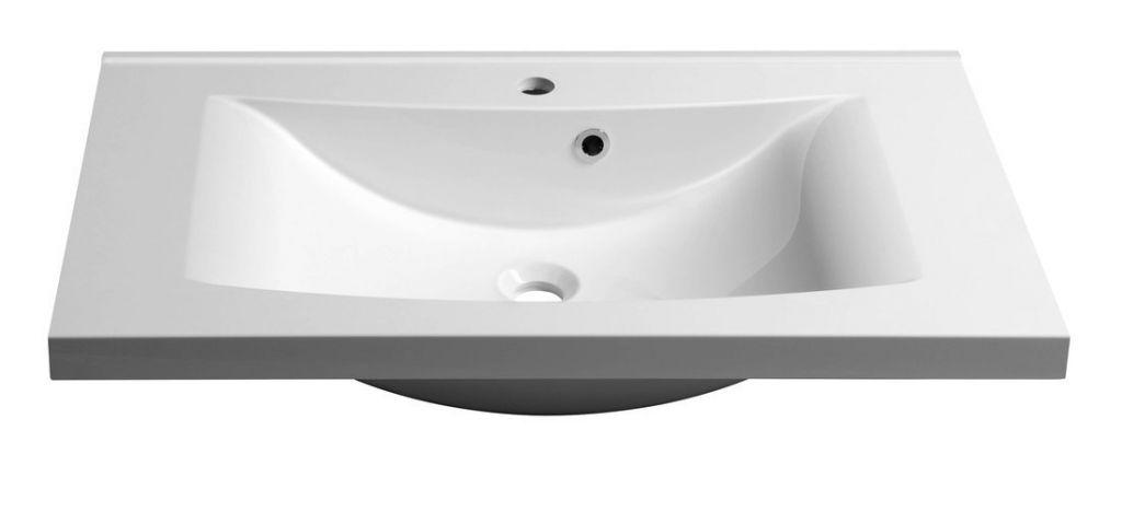 SAPHO - LUCIOLA umývadlo 80x48cm, liaty mramor, biela (50081)