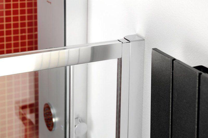 POLYSAN - LUCIS LINE štvrťkruhová sprchová zástena, 900x900mm, R550, číre sklo (DL2615)