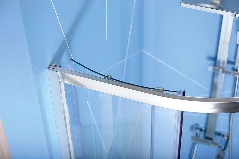 POLYSAN - EASY LINE štvrťkruhová sprchová zástena 800x800mm, L/R, číre sklo (EL2515)