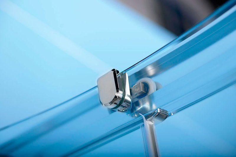 POLYSAN - EASY LINE štvrťkruhová sprchová zástena 900x900mm, L/R, čire sklo (EL2615)