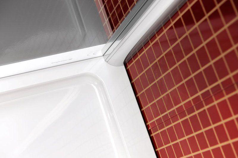 POLYSAN - LUCIS LINE štvrťkruhová sprchová zástena, 1000x1000mm, R550, číre sklo (DL3015)