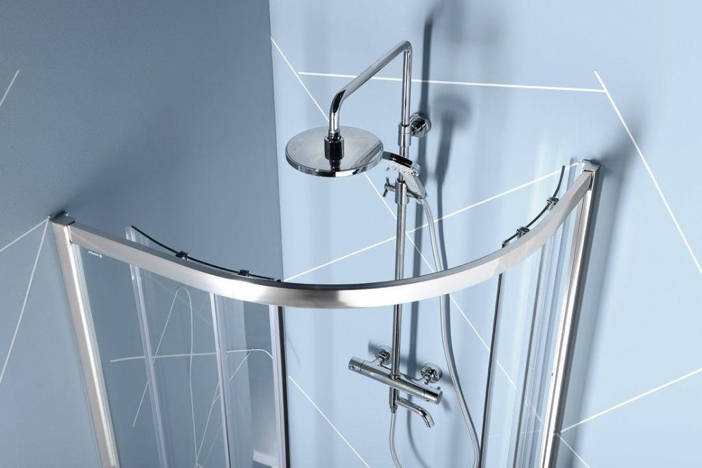 POLYSAN - EASY LINE štvrťkruhová sprchová zástena 1200x900mm, L/R, číre sklo (EL2715)