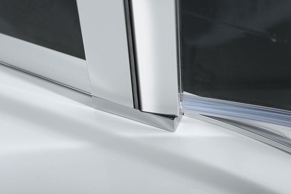 POLYSAN - ZOOM LINE štvrťkruhová sprchová zástena 900x900mm, číre sklo, ľavá (ZL2615L)