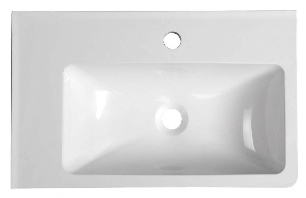 SAPHO - ARANA umývadlo 56x11x35cm, liaty mramor, biela, ľavé (AN055)