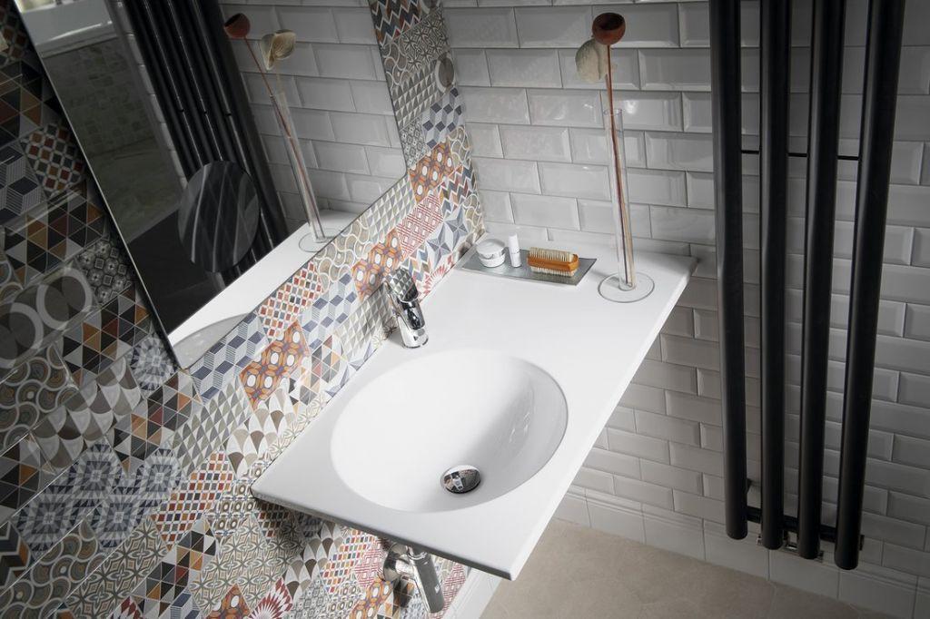 SAPHO - JUNO umývadlo 80x15x47cm, liaty mramor, biela, ľavé (JU080)