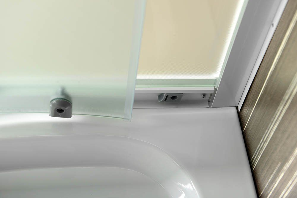 AQUALINE - ARLEN štvrťkruhová sprchová zástena 900x900mm, sklo BRICK (BTR900)