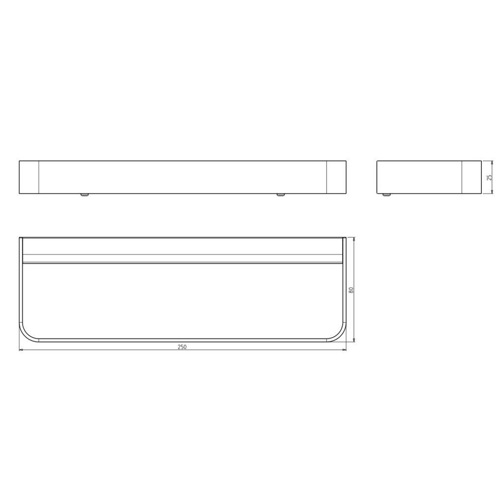 SAPHO - BELLA držiak uterákov na bok skrinky 250mm, chróm (FA115)