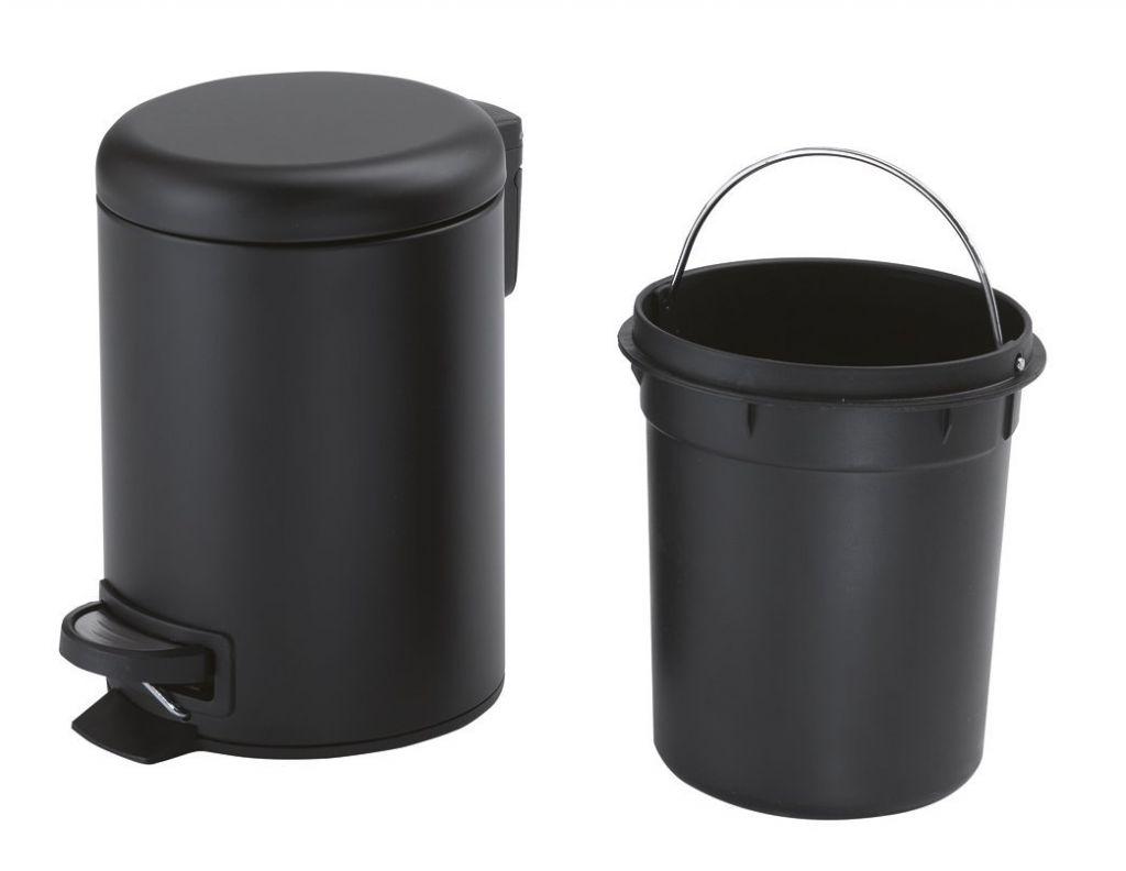 Gedy - POTTY Odpadkový koš 5l, Soft Close, čierna matná (330914)