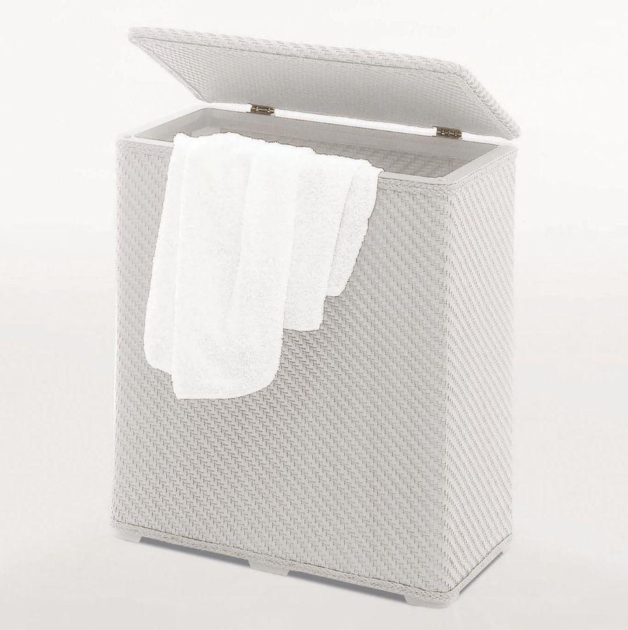 AQUALINE - AMBROGIO kôš na bielizeň 50x55x28 cm, biely (203802)